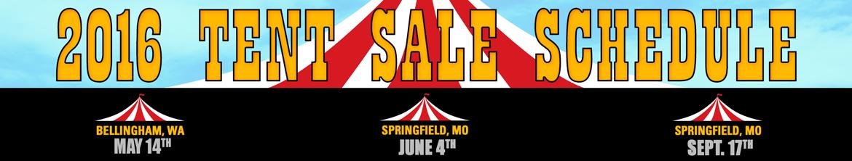 2016 Tent Sales!