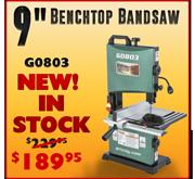 G0803 Benchtop Bandsaw