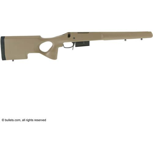 T5 Non Adjustable Cheek Remington 700 Short Action DBM VMT Tactical Stock,  Coy Tan
