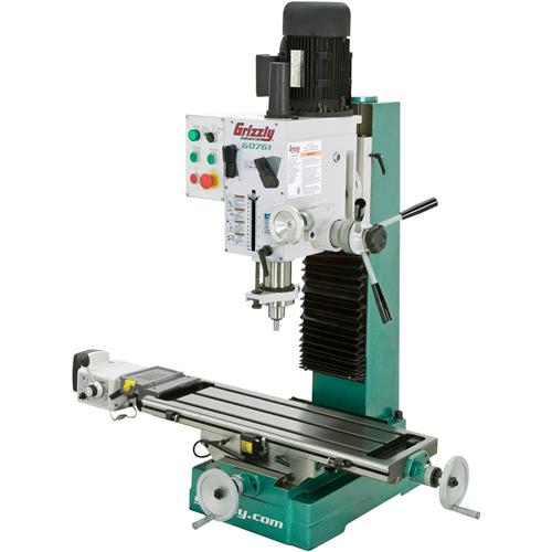 Heavy Duty Benchtop Mill Drill With Feed And Ting Grizzly
