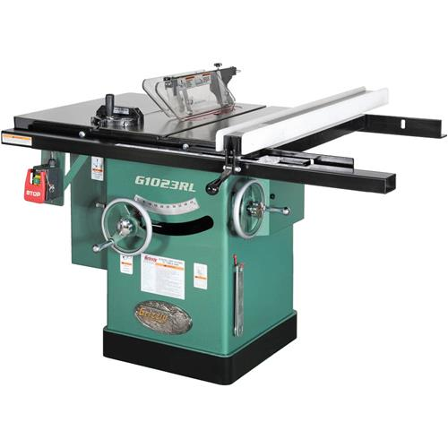 10 3 hp 240v cabinet left tilting table saw grizzly industrial greentooth Image collections