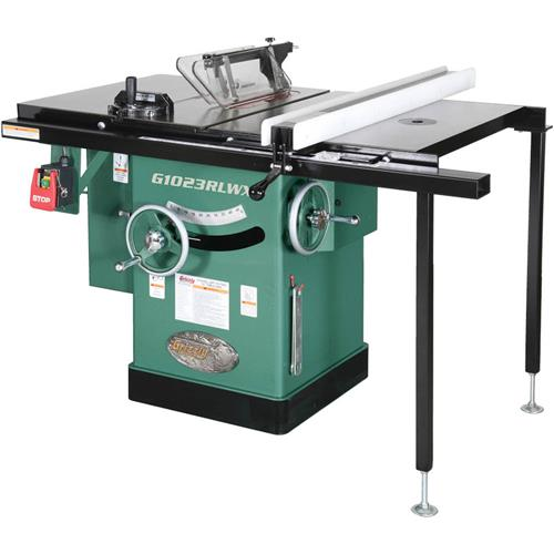 10 5 hp 240v cabinet left tilting table saw grizzly industrial greentooth Choice Image