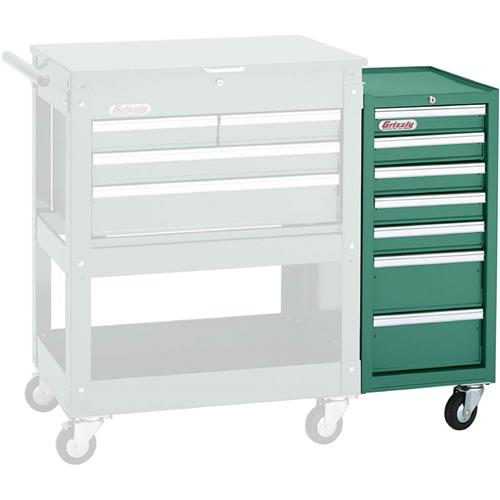 7 Drawer Side Tool Cabinet | Grizzly Industrial